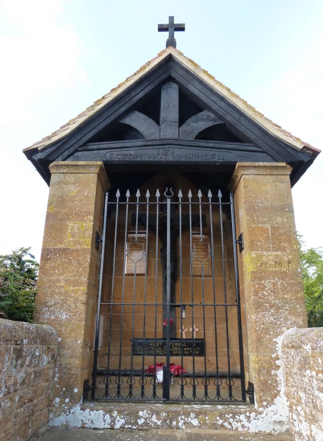 The Ecton War Memorial Shrine in Northampton