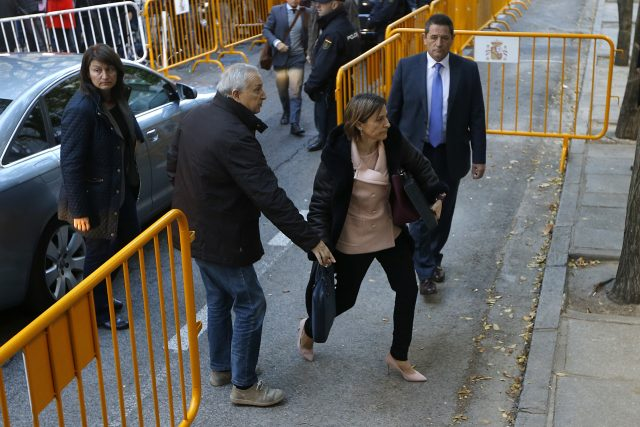 Ex-speaker of the Catalonia parliament Carme Forcadell. (AP)