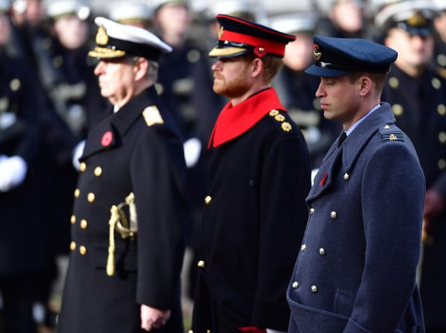 Prince Andrew, Prince Harry and the Duke of Cambridge