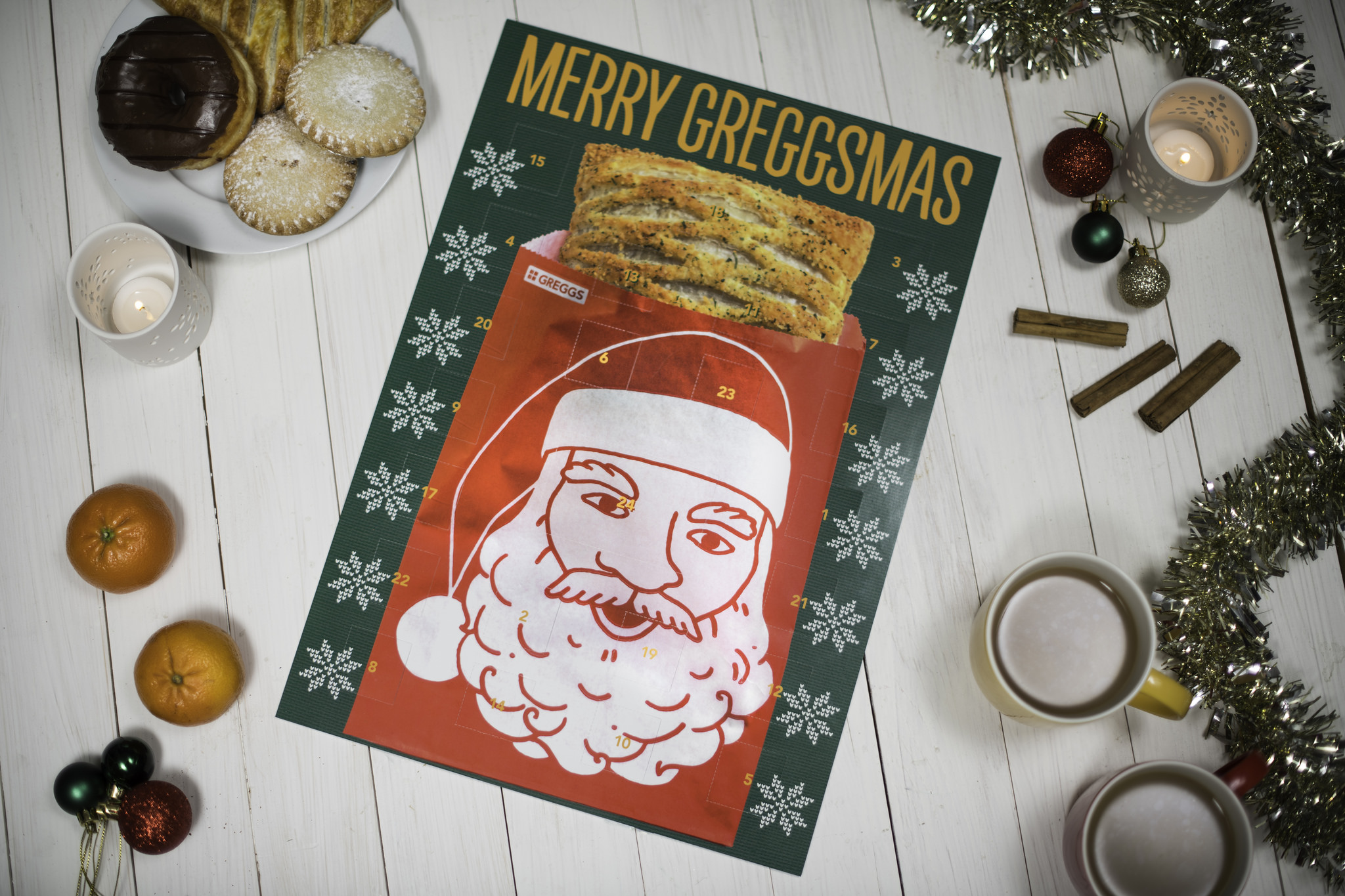 An advent calendar from food retailer Greggs