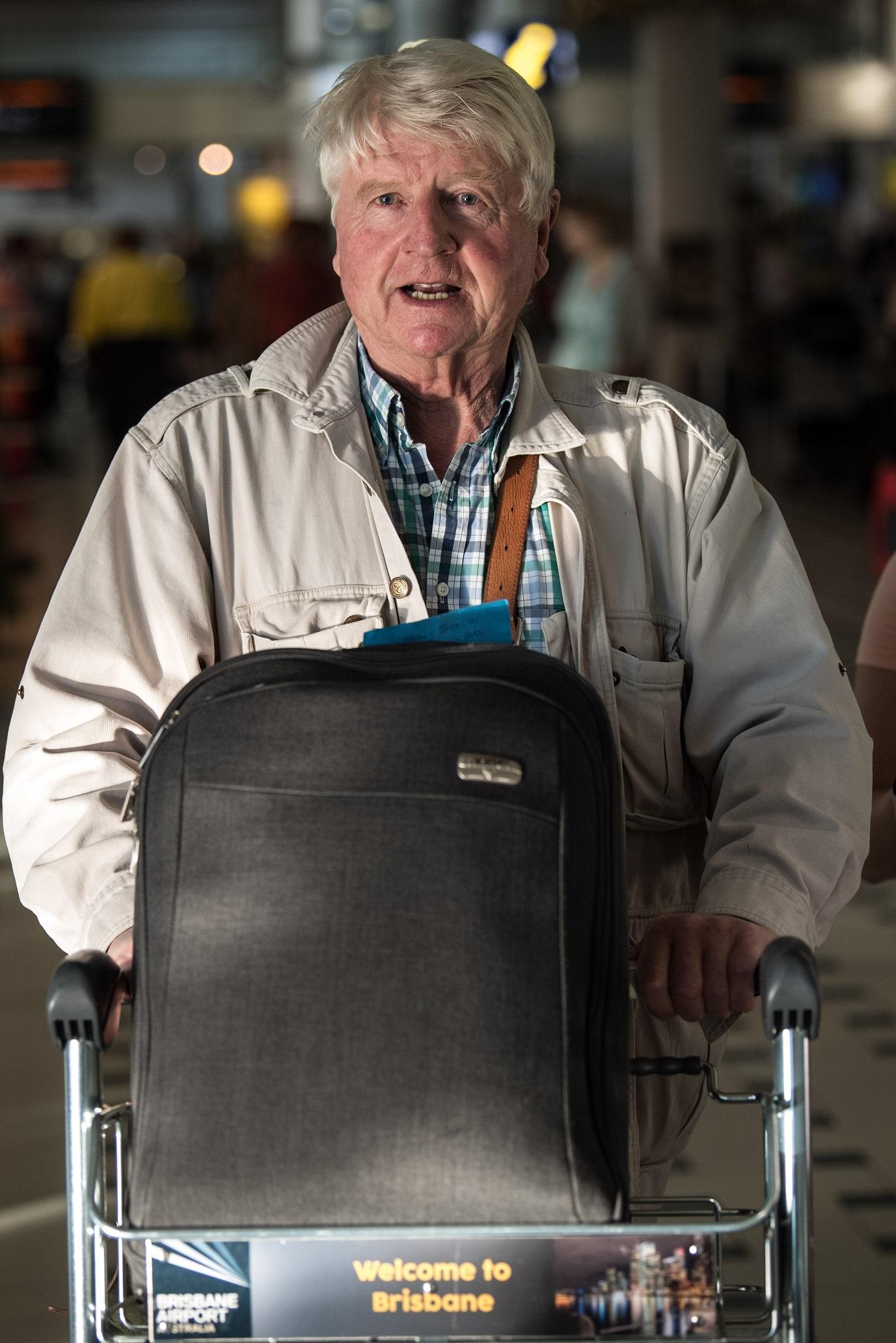 Stanley Johnson arriving in Australia (James Gourley/REX/Shutterstock)