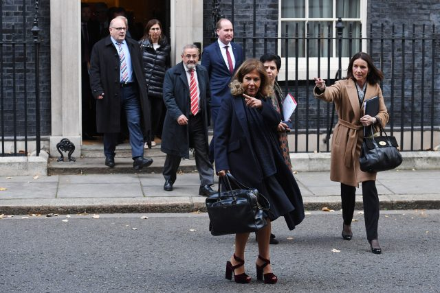 BusinessEurope president Emma Marcegagia and CBI director general Carolyn Fairbairn leaving 10 Downing Street (Stefan Rousseau/PA)