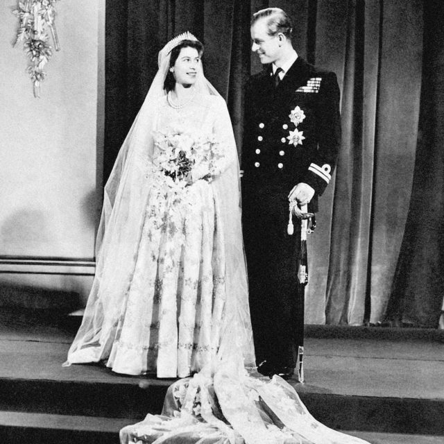 The royals on their wedding day