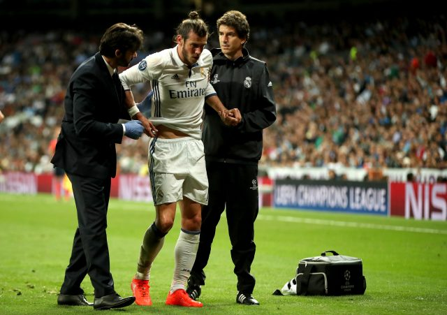 Gareth Bale currently has a leg injury