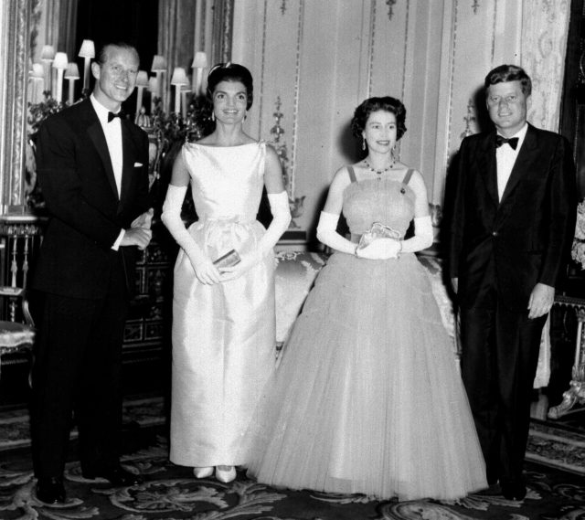 With US president John F Kennedy and his wife Jacqueline in 1961 (PA)