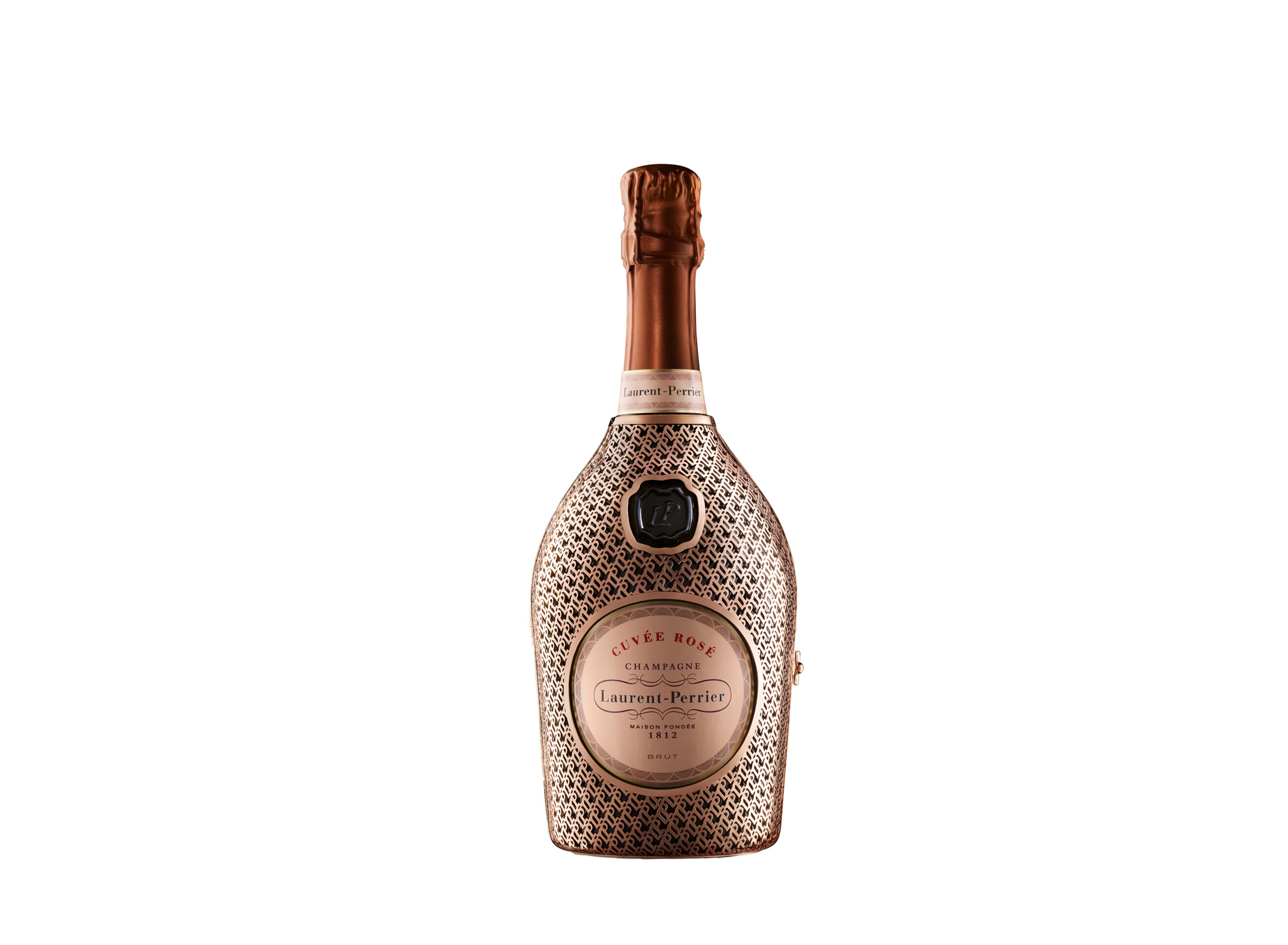 Lauent-Perrier Rose NV Champagne Metal Robe Limited Edition (Laurent-Perrier/PA)