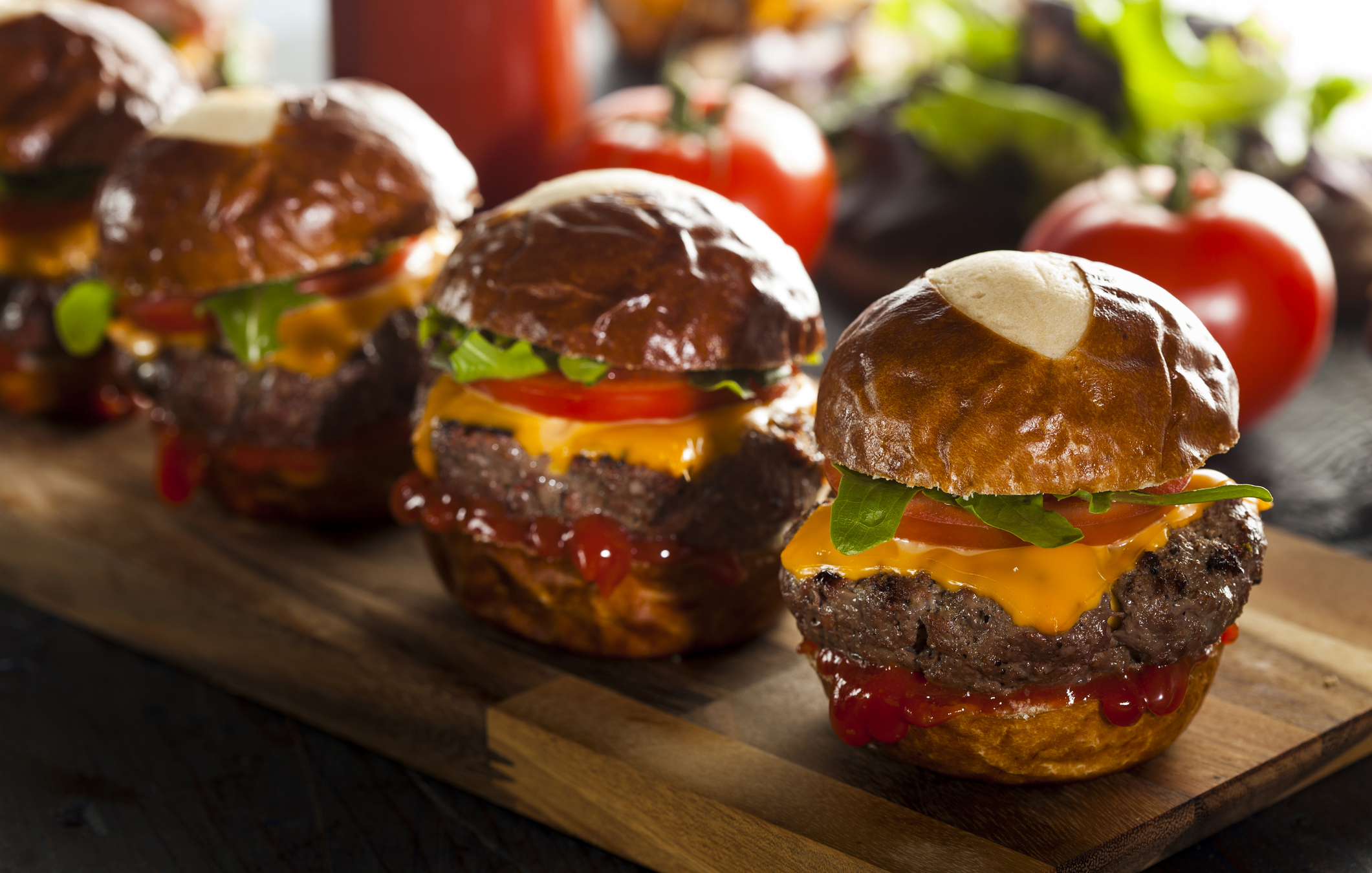 Homemade Cheeseburger Sliders with Lettuce Tomato and Cheese (Thinkstock/PA)
