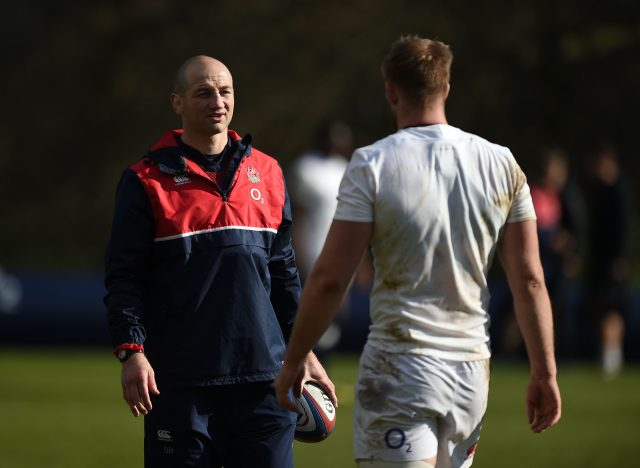 Steve Borthwick, left, and George Kruis