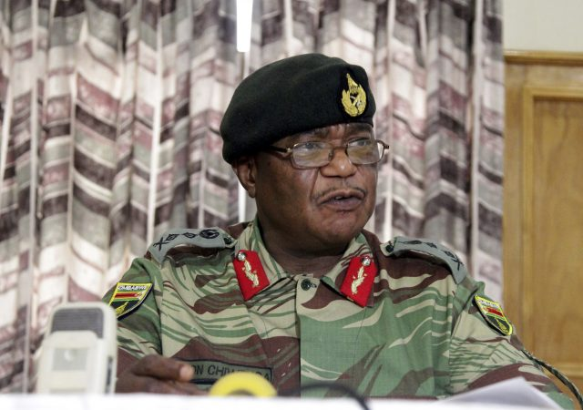 Zimbabwe's army commander Constantino Chiwenga has criticised the instability in the country's ruling party (Tsvangirayi Mukwazhi/AP)