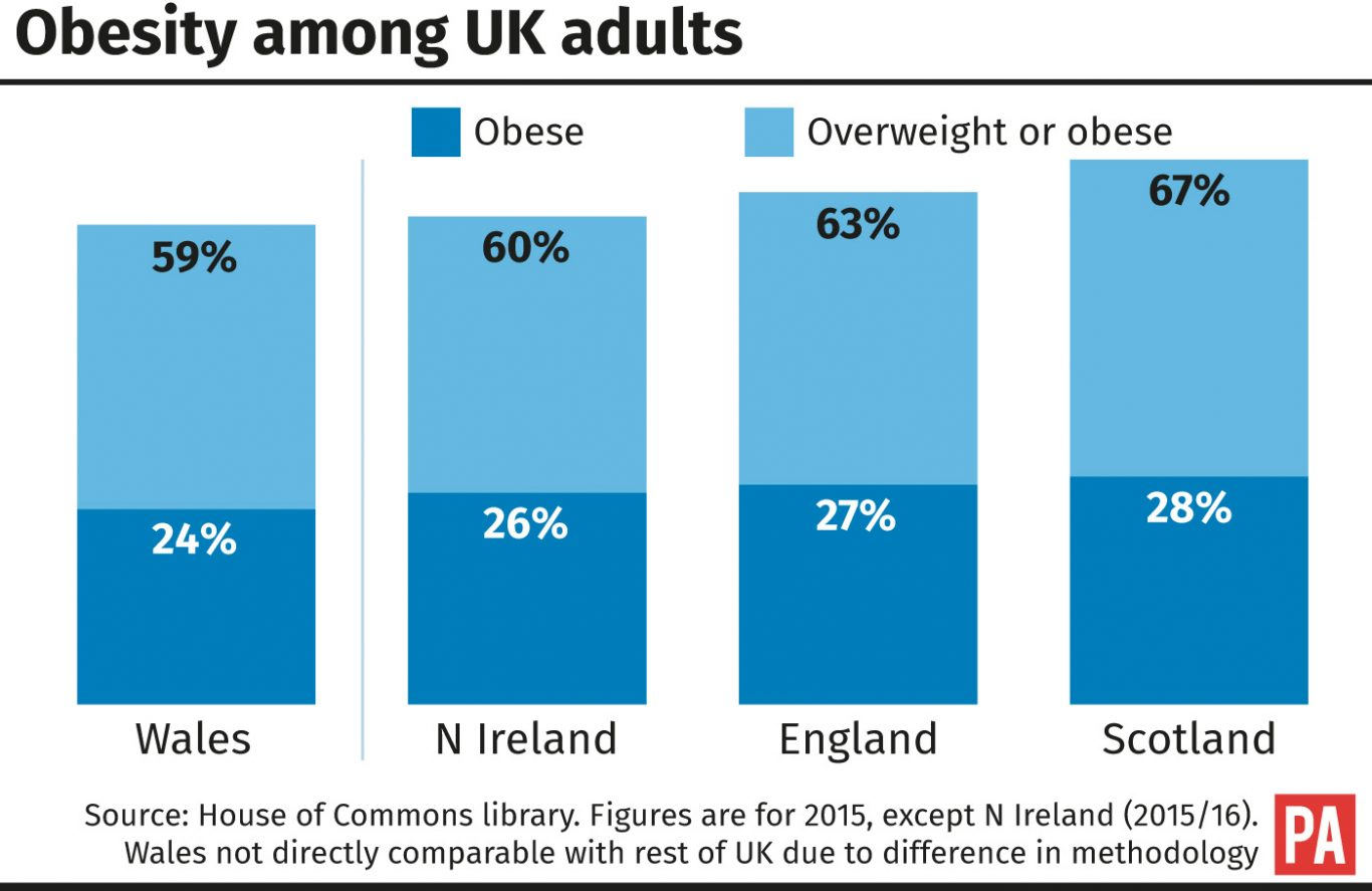 Obesity among UK adults