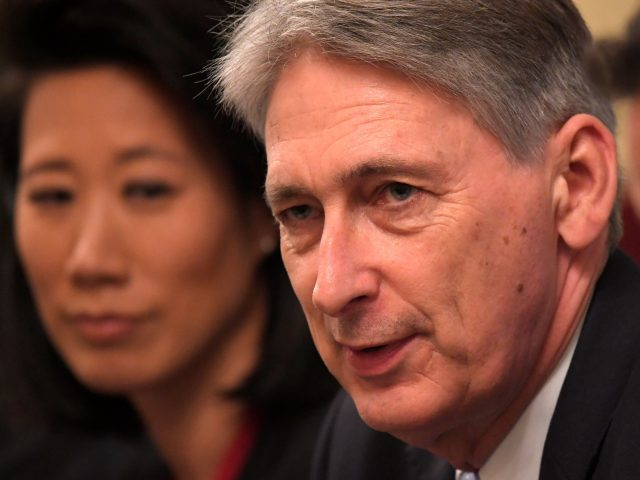 Chancellor Philip Hammond during the talks at Downing Street