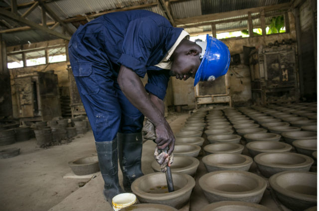 Cookstoves being manufactured
