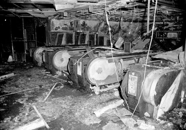 The fire-damaged escalators at King's Cross Underground station