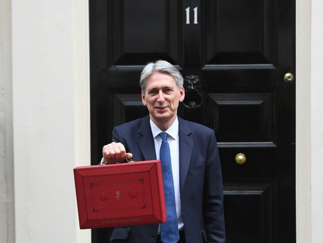 Chancellor Philip Hammond on Budget Day