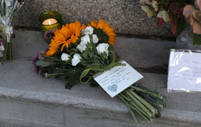 Floral tributes for Gaia Pope. (Andrew Matthews/PA)