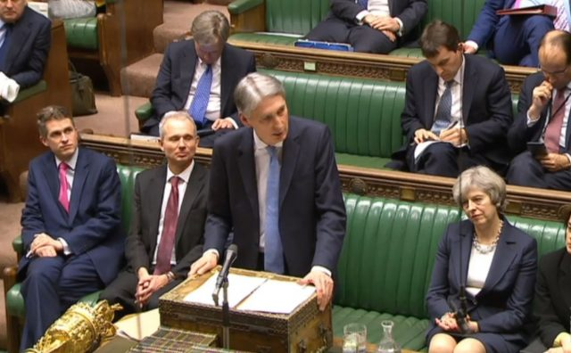 Chancellor Philip Hammond speaking in the House of Commons. (PA)