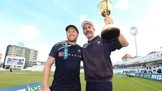 Jason Gillespie guided Yorkshire to the Division One title in 2014, their first in 13 years