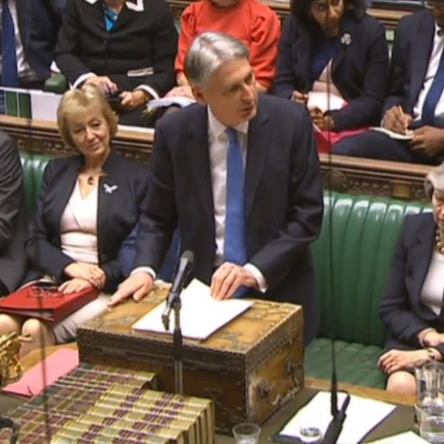 Philip Hammond delivers his Budget in the Commons