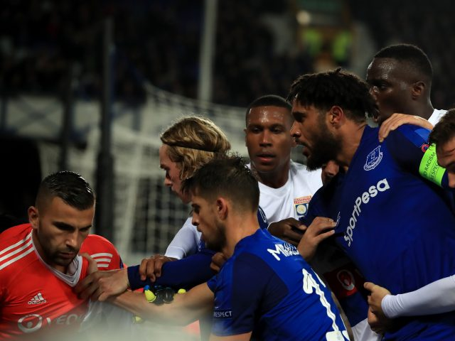 Uefa fine Everton after fan confrontation with Lyon keeper