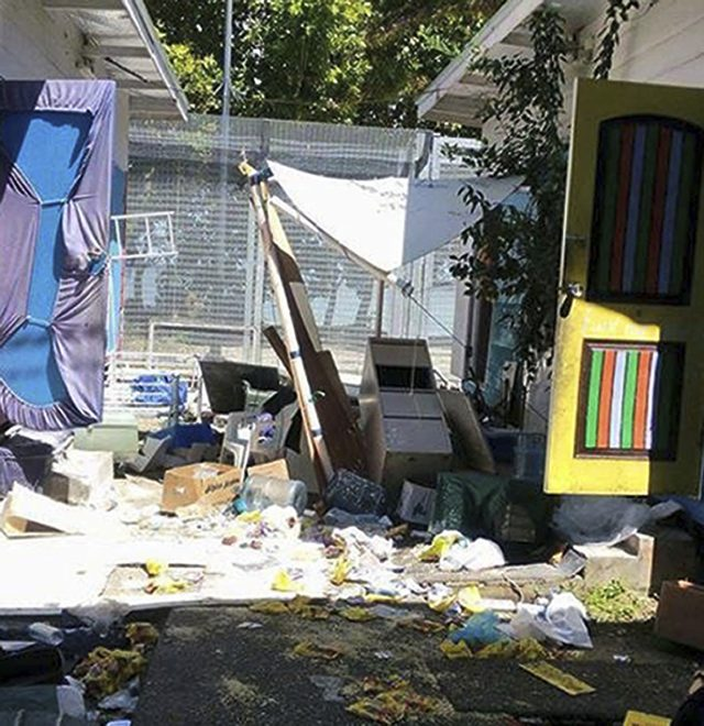 The ransacked immigration camp on Manus Island