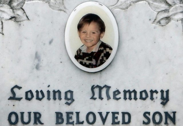 The grave of murdered James Bulger in Liverpool