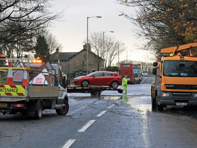 Clear-up operations continue in Galgate, Lancashire