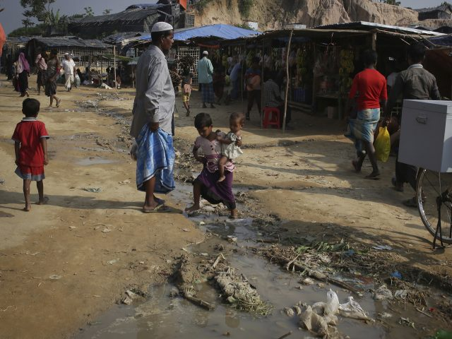 Rohingya Muslims at the Thaingkhali refugee camp in Bangladesh