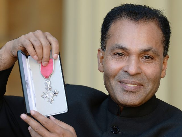 Mohammed 'Tommy' Miah after receiving his MBE
