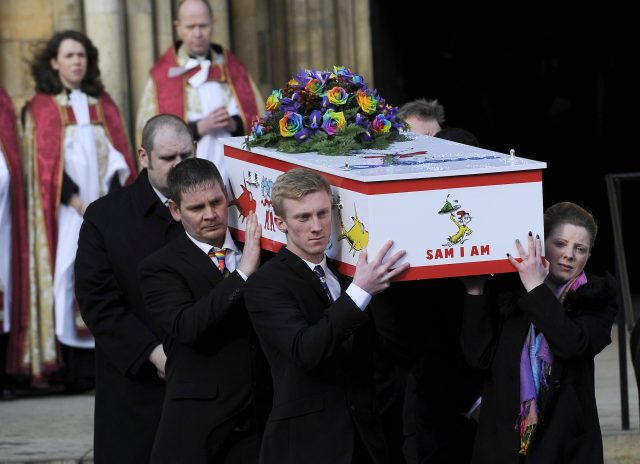 Katie Rough's funeral was held at York Minster (PA)