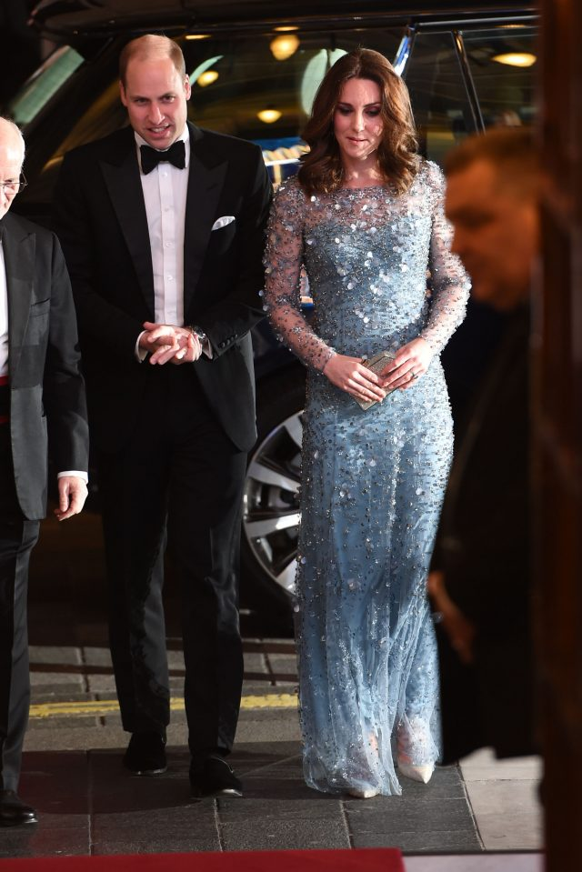 The Duke and Duchess of Cambridge arriving to attend the Royal Variety Performance at the London Palladium (Eddie Mulholland/Daily Telegraph/PA Wire)