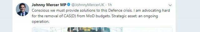 A tweet by Johnny Mercer