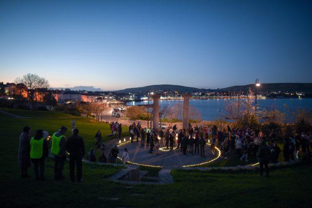 The vigil was held in the Prince Albert Gardens (Ben Birchall/PA)