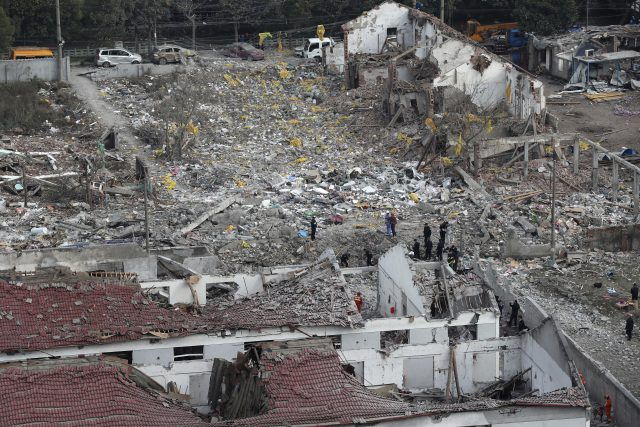 China: factory explosion south of Shangai destroys city