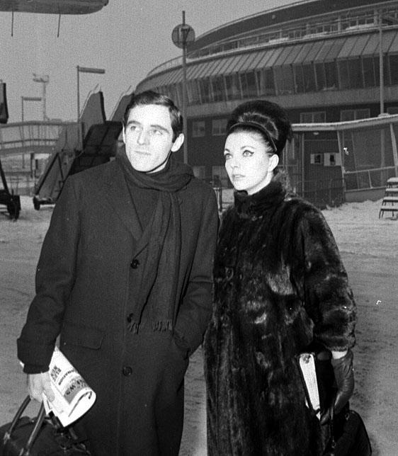 Anthony Newley and Joan Collins - Heathrow Airport - London