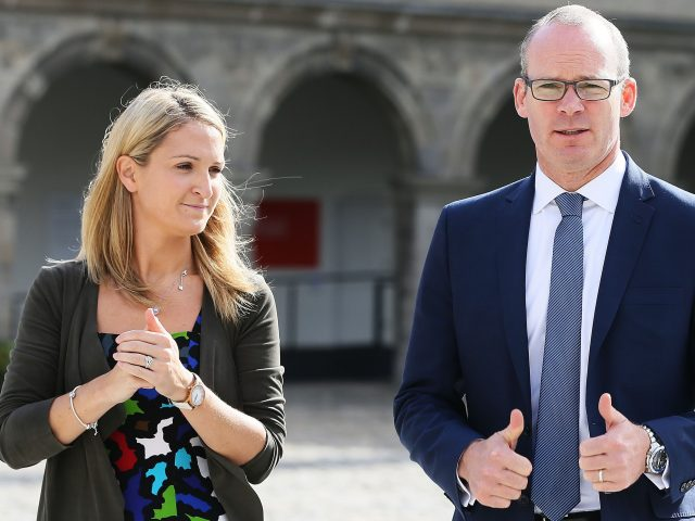 Ireland's Minister for European Affairs Helen McEntee and Minister for Foreign Affairs Simon Coveney