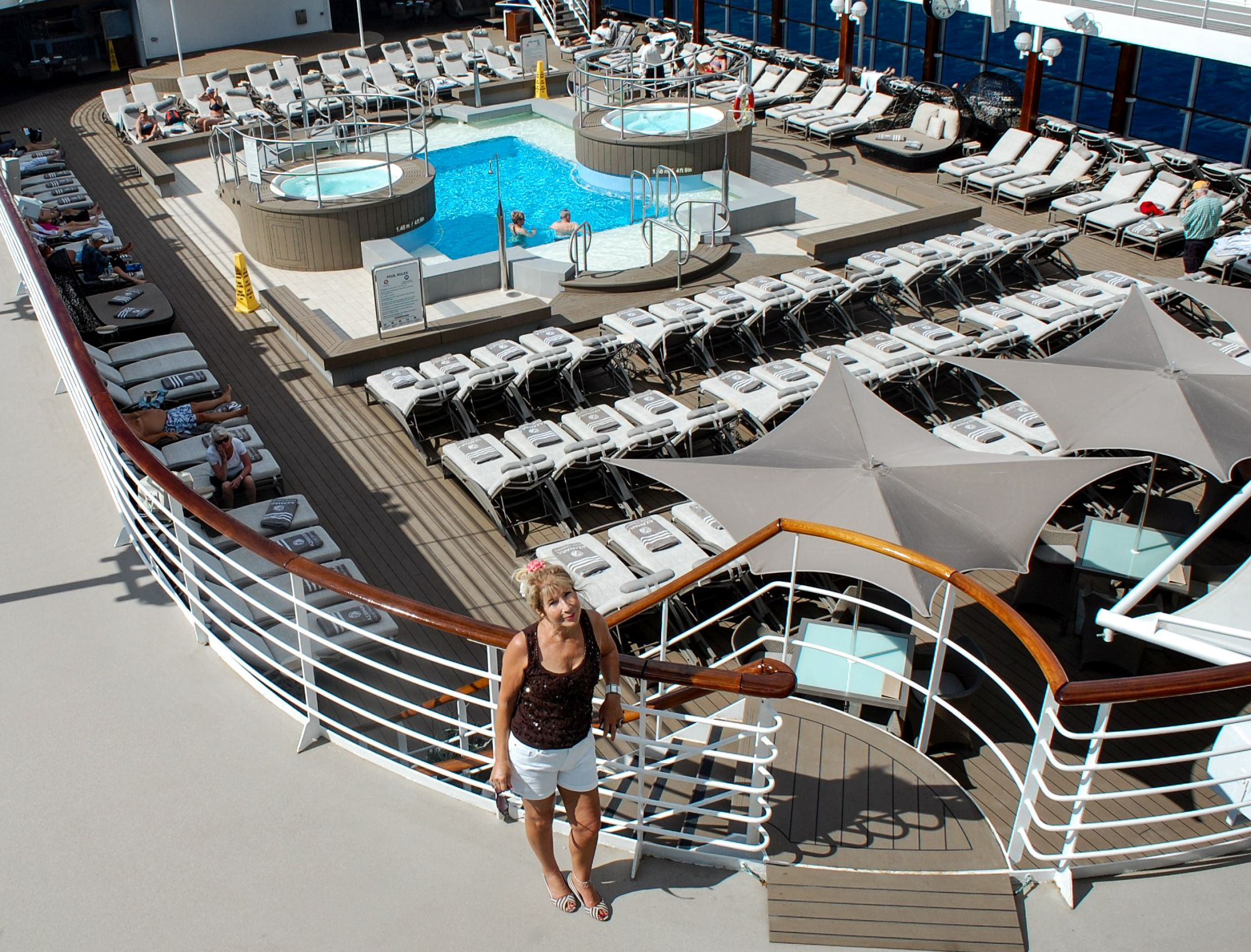 Jennie Bond on cruise (James Keltz/PA)