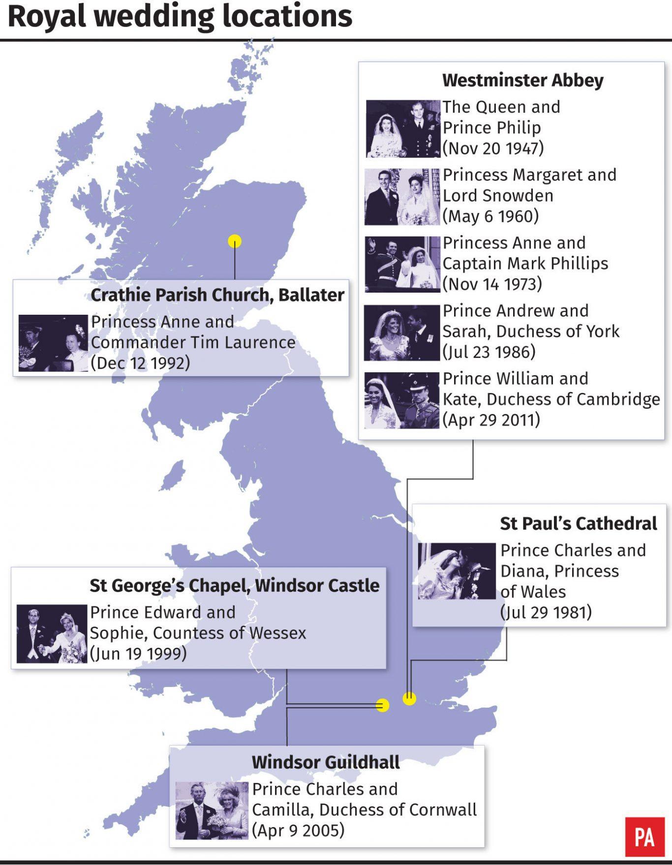 Royal wedding locations