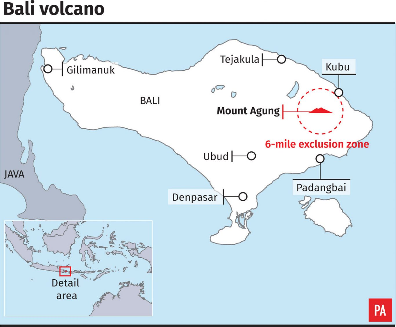 Erupting volcano shuts Bali airport for 2nd day