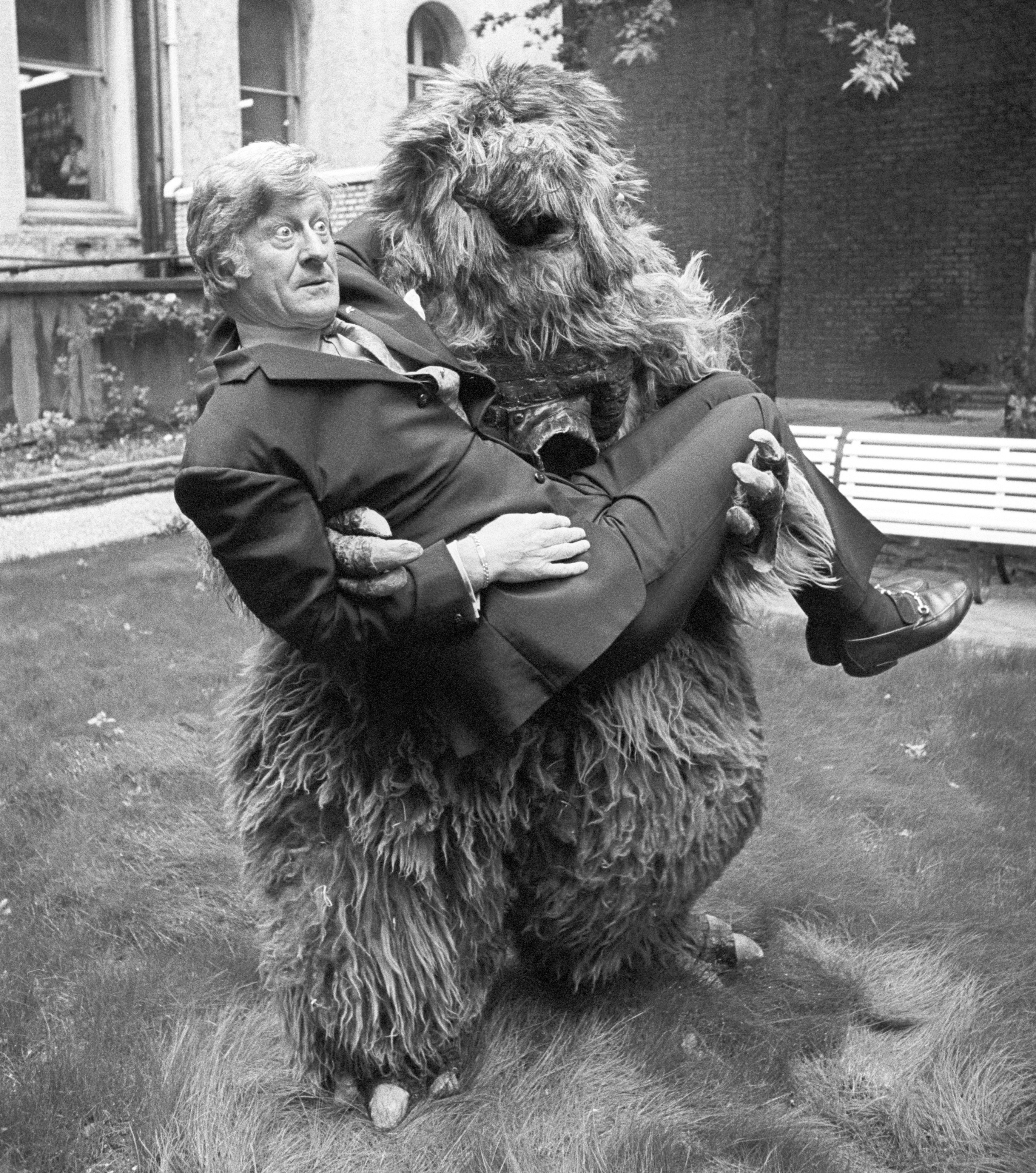 Doctor Who and yeti.