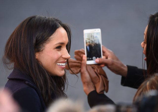 Meghan was a hit with the crowds in Nottingham (Joe Giddens/PA)