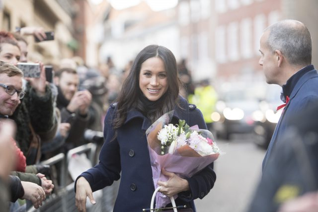 Ms Markle went without gloves (Jeremy Selwyn/Evening Standard/PA)
