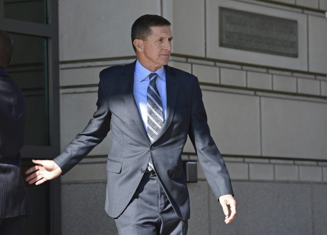 Former Trump national security adviser Michael Flynn leaves federal court in Washington