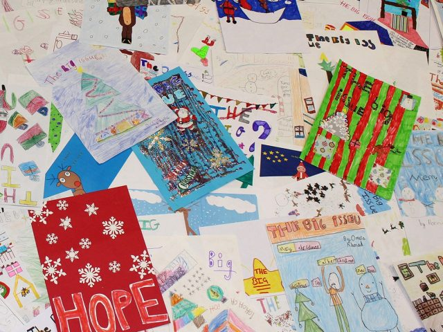 Competition entries for the Christmas front cover