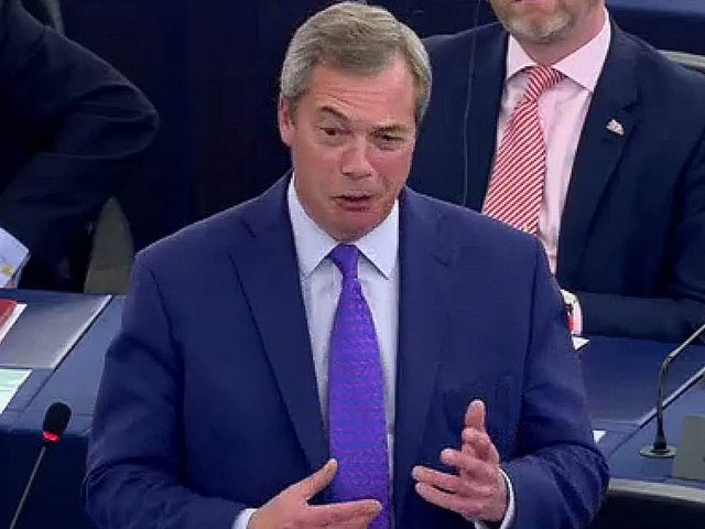 Nigel Farage in Strasbourg