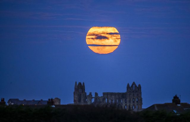 The first supermoon of the year was visible on January 12 and the second was on November 3 (Danny Lawson/PA)
