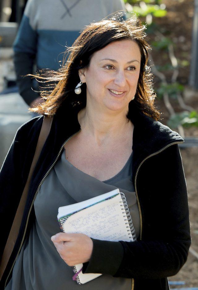 Investigative journalist Daphne Caruana Galizia who was killed by a car bomb in Malta on October 16. (AP Photo/Jon Borg)