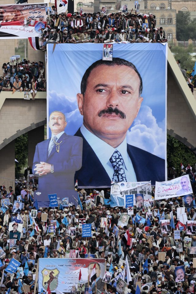 Supporters of former Yemeni President Ali Abdullah Saleh, who ruled for almost three decades (Hani Mohammed/AP)
