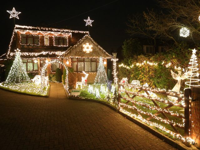Lights on Hill Farm Road, Marlow Bottom, Bucks