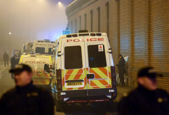 Riot police in Birmingham