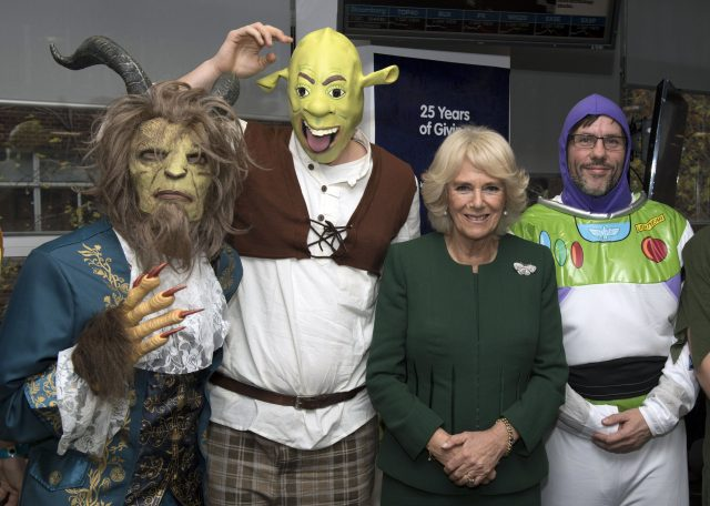 Duchess of Cornwall and staff in fancy dress